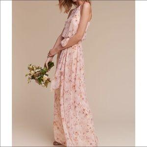 BHLDN Donna Morgan Alana Dress Blush Wildflower